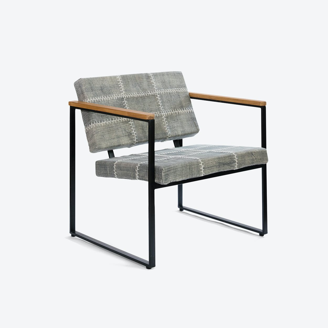 Navaho Dark Grey Stone-Wash Chair