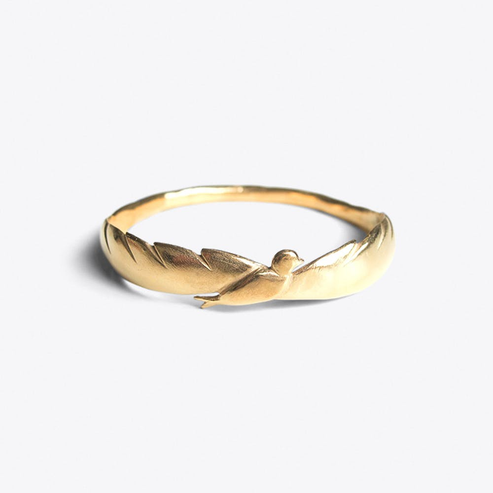 Bird Bracelet in Gold