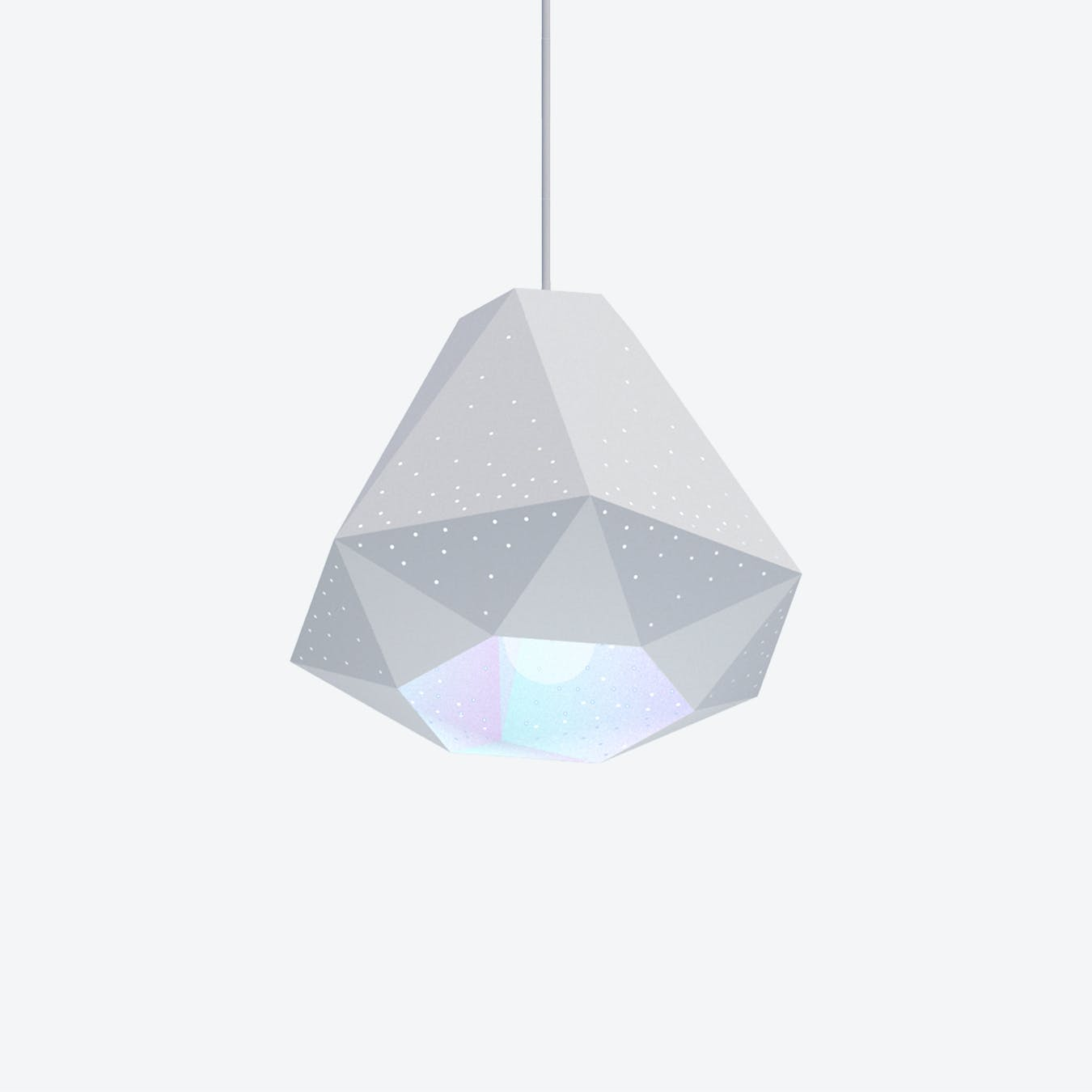 Diamond Pendant Light w/ CMYK Bulb
