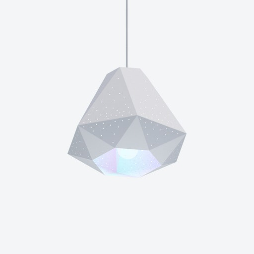 Diamond Pendant Light w/ CMYK Bulb