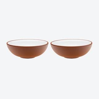 White Terracota Bowl (Set of 2)