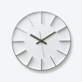 EDGE Wall Clock / White