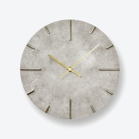 QUAINT Wall Clock / Silver