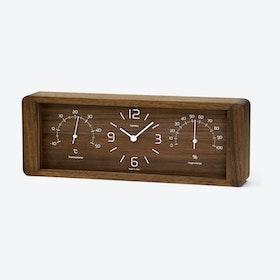 YOKAN Table Clock / Brown