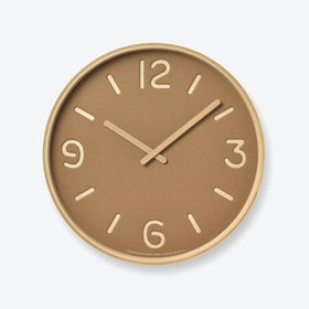THOMSON PAPER Wall Clock / Brown