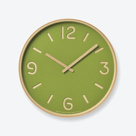 THOMSON PAPER Wall Clock / Green