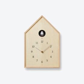 BIRDHOUSE Cuckoo Clock / Natural