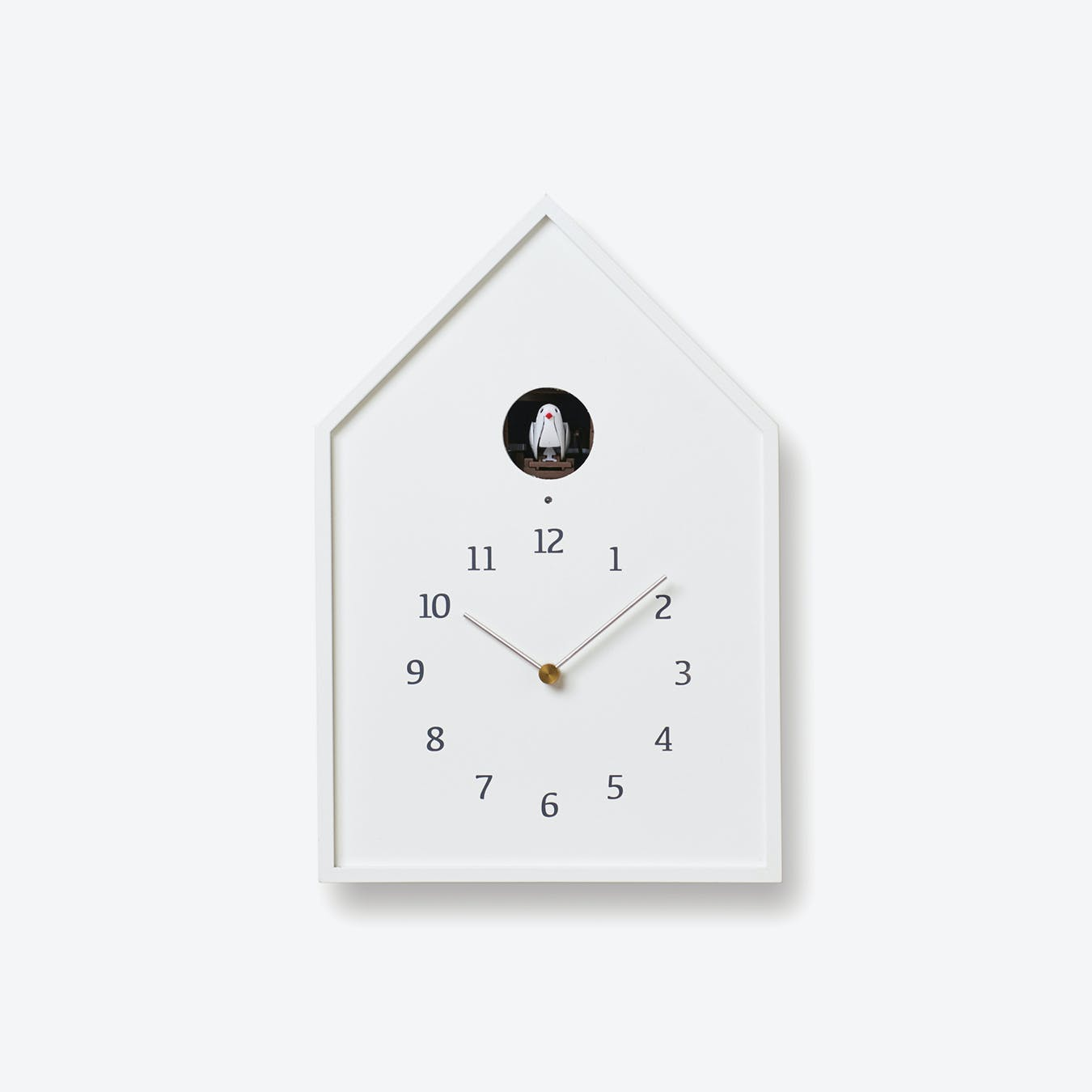 BIRDHOUSE Cuckoo Clock / White