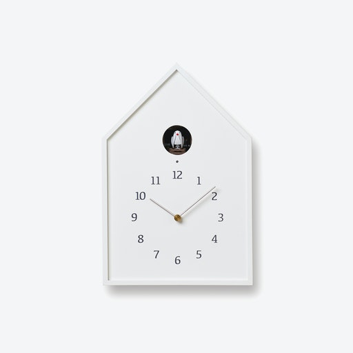 BIRDHOUSE Cuckoo Clock / White