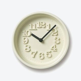 CHIISANA TOKEI Wall Clock / Ivory
