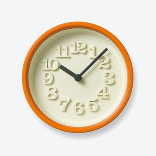 CHIISANA TOKEI Wall Clock / Orange