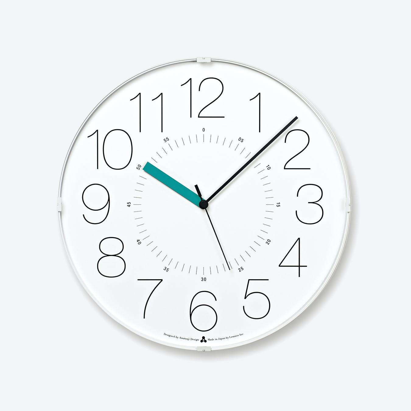 CARA Wall Clock / White-Blue