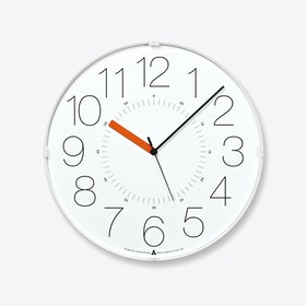 CARA Wall Clock / White-Orange