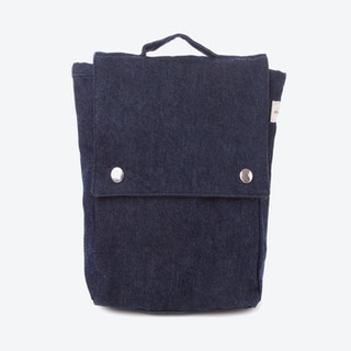 Minimes Toddler Backpack in Raw Denim