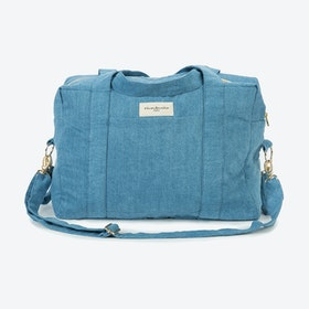 Darcy Diaper Bag in Stone Washed Denim