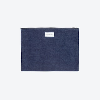 Barbette Pouch in Stone Washed Denim