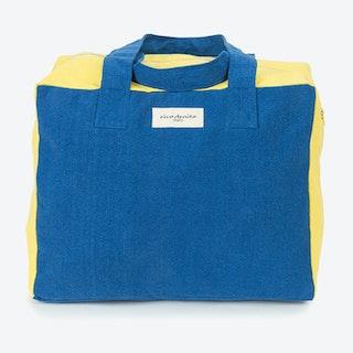 Célestins Bag in Indigo & Lemon Yellow