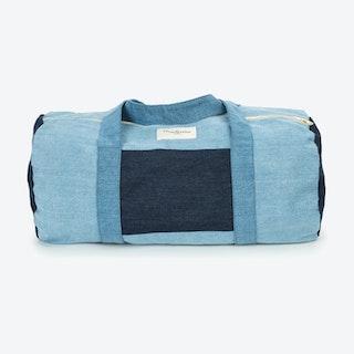 Charlot Duffle Bag in Patchwork Denim