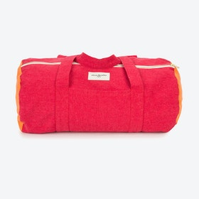 Charlot Duffle Bag in Grenade Red & Navel Orange