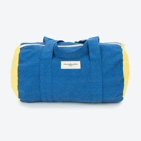 Ballu Duffle Bag in Indigo & Lemon Yellow