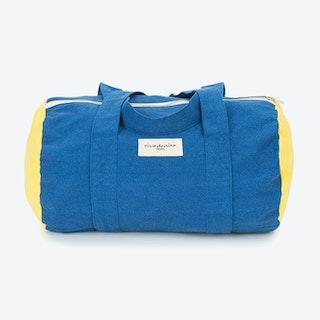 Ballu Duffle Bag in Indigo & Lemon Yellow