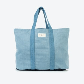 Marcel XS Tote in Denim Patchwork