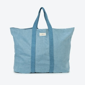 Marcel XL Tote in Denim Patchwork