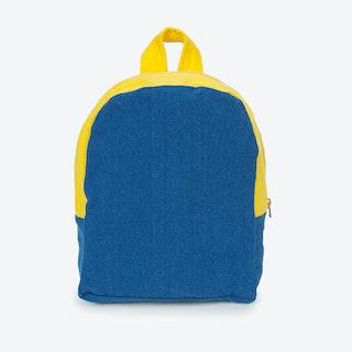 Hardy Kids Backpack in Indigo & Lemon Yellow