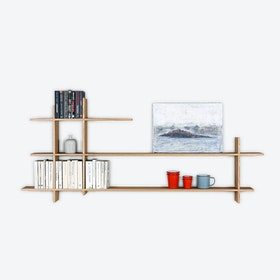 Large White Oiled Oak Stack Shelf