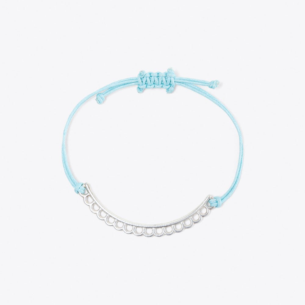 Shoal Bracelet in Silver & Powder Blue