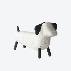 Concrete Dog in Spotted White/Black Ash