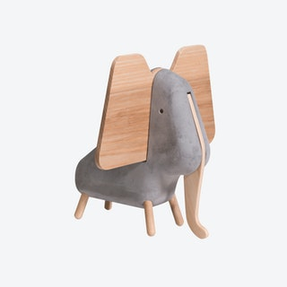 Concrete Elephant in Grey/Natural Ash