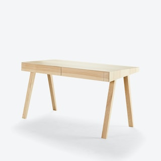 2 Drawer '4.9' Desk in Lithuanian Ash