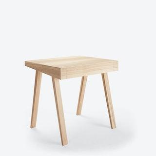 1 Drawer '4.9' Desk in Lithuanian Ash