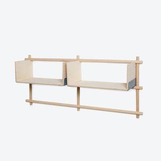 Foldin Shelf - Four Holes, Two Shelves