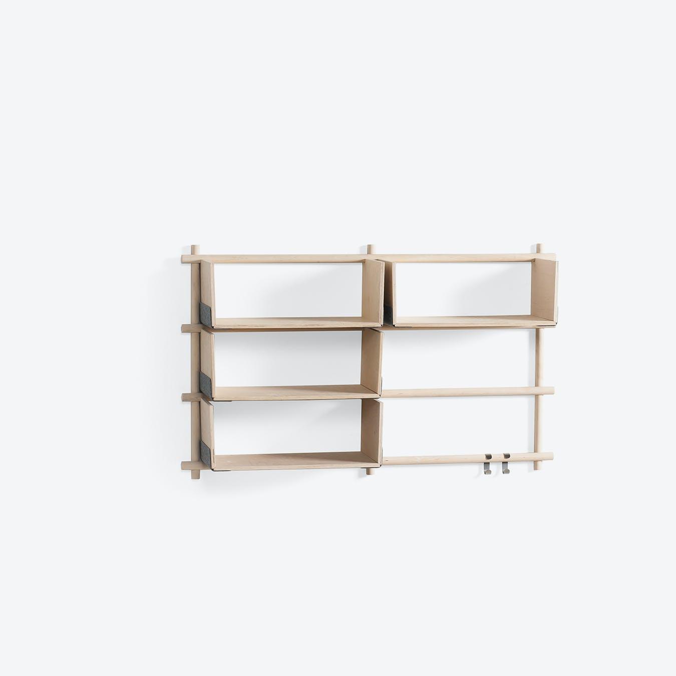 Foldin Shelf - Six Holes, Four Shelves
