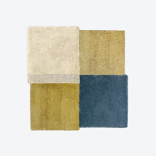 Over Square Rug - Beige, Blue