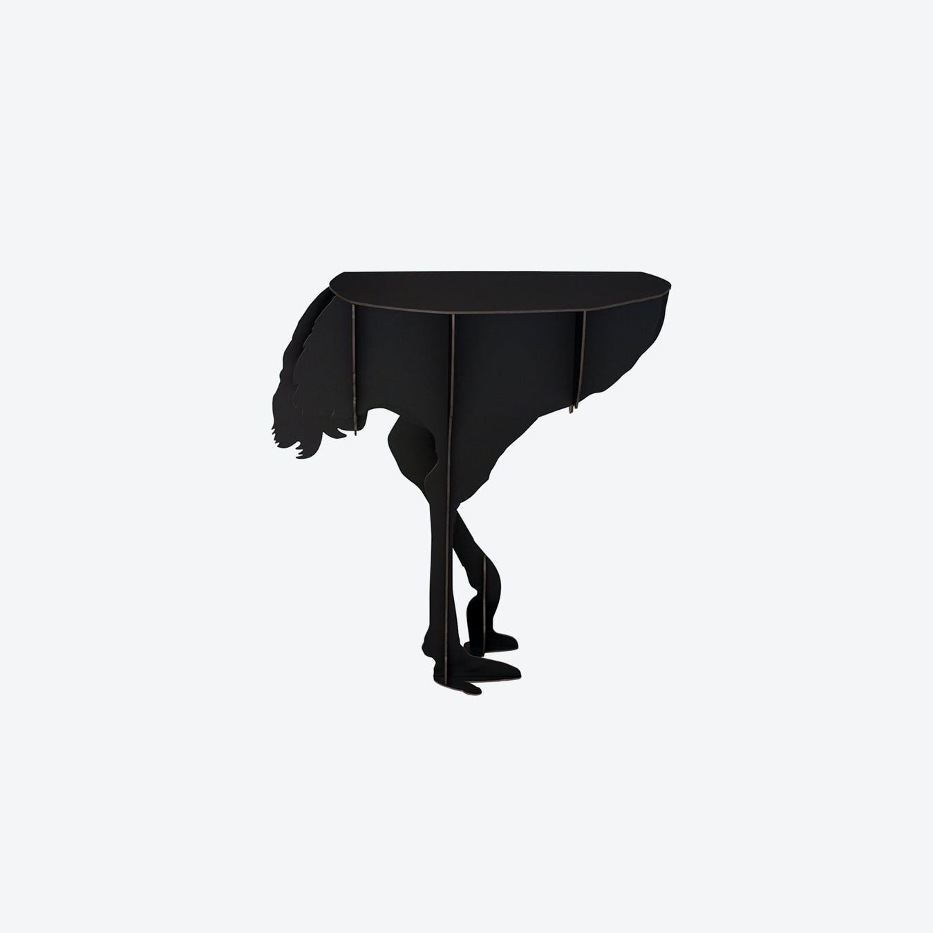 DIVA Ostrich Console - Black