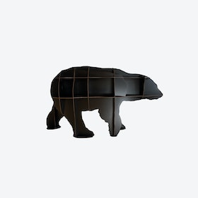JUNIOR Polar Bear Bookshelf - Black