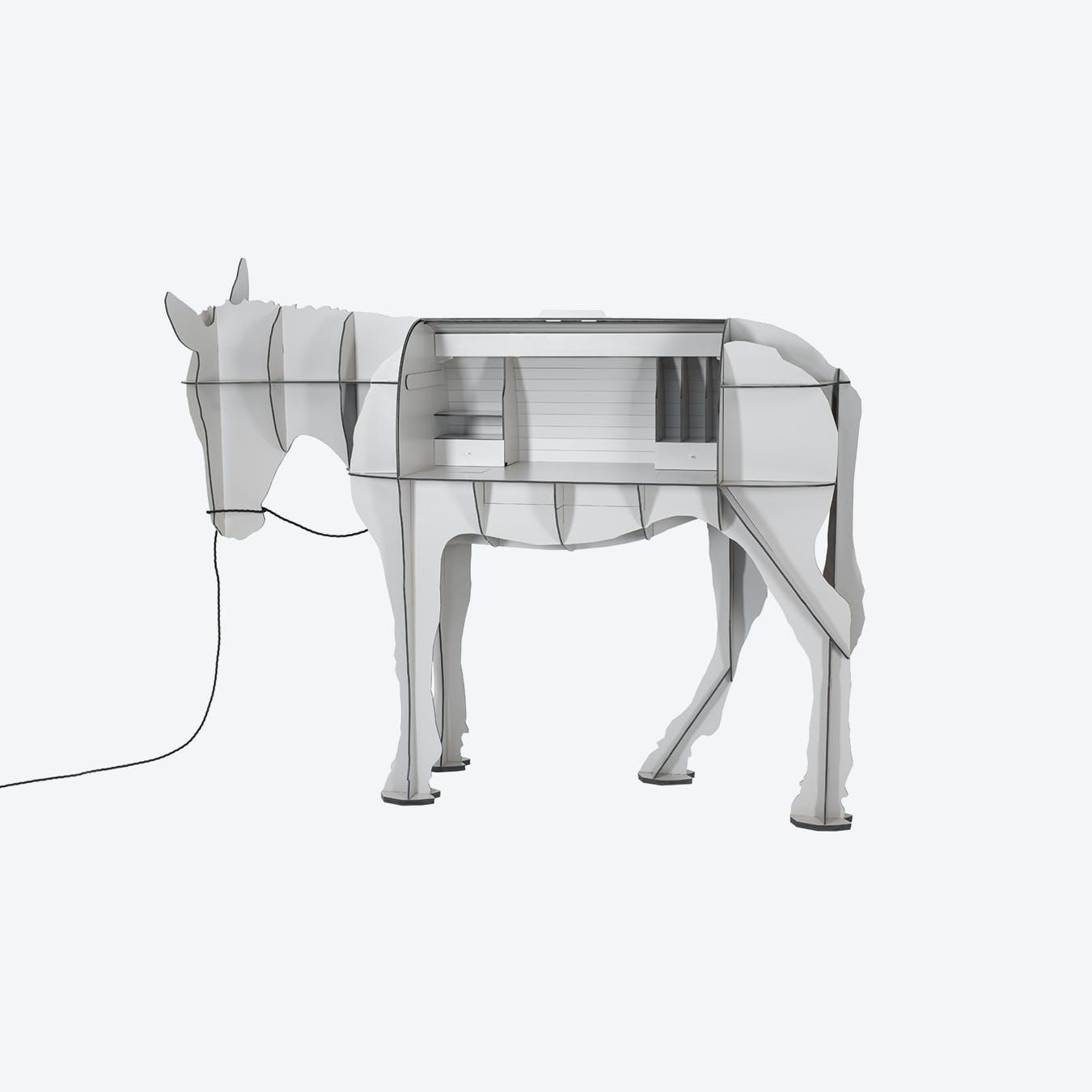 MATURIN Donkey Desk - Light Grey