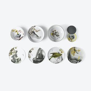 Yuan Parnasse - Set of 4 bowls and 4 plates
