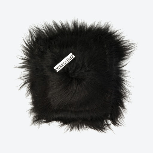 Icelandic Sheepskin Pillow - Black