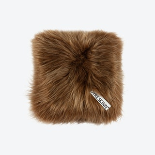 Icelandic Sheepskin Pillow - Brown