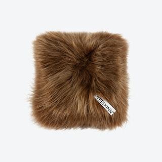 Icelandic Sheepskin Pillow - Brown