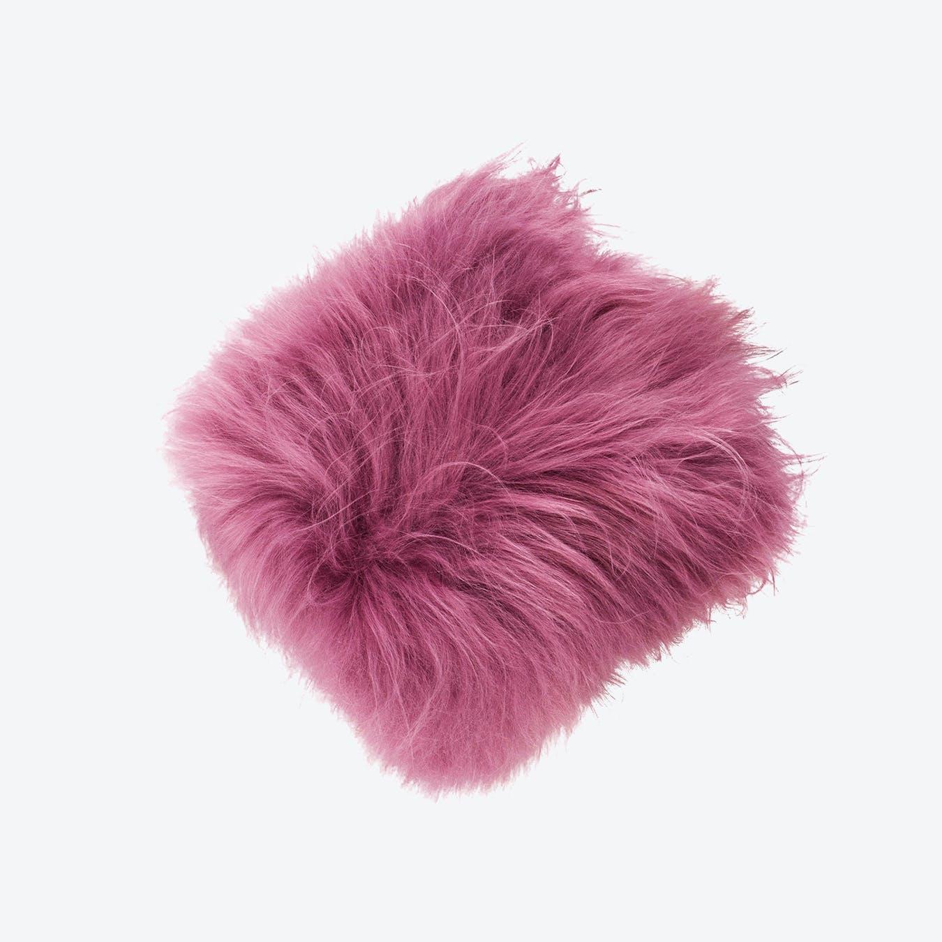 Icelandic Sheepskin Pillow - Dark Pink