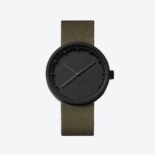 D42 Steel Tube Watch w/ Green Cordura-Leather Strap