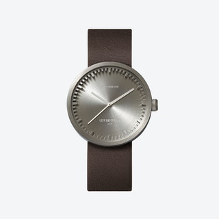 D38 Steel Tube Watch w/ Brown Leather Strap
