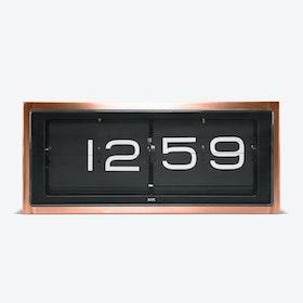 Brick Table Clock - Copper & Black