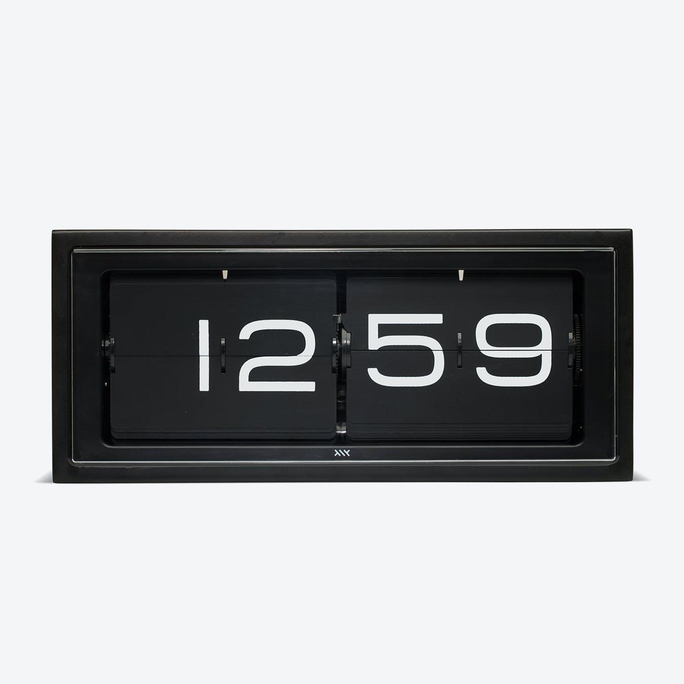 Brick Table Clock - Matte Black