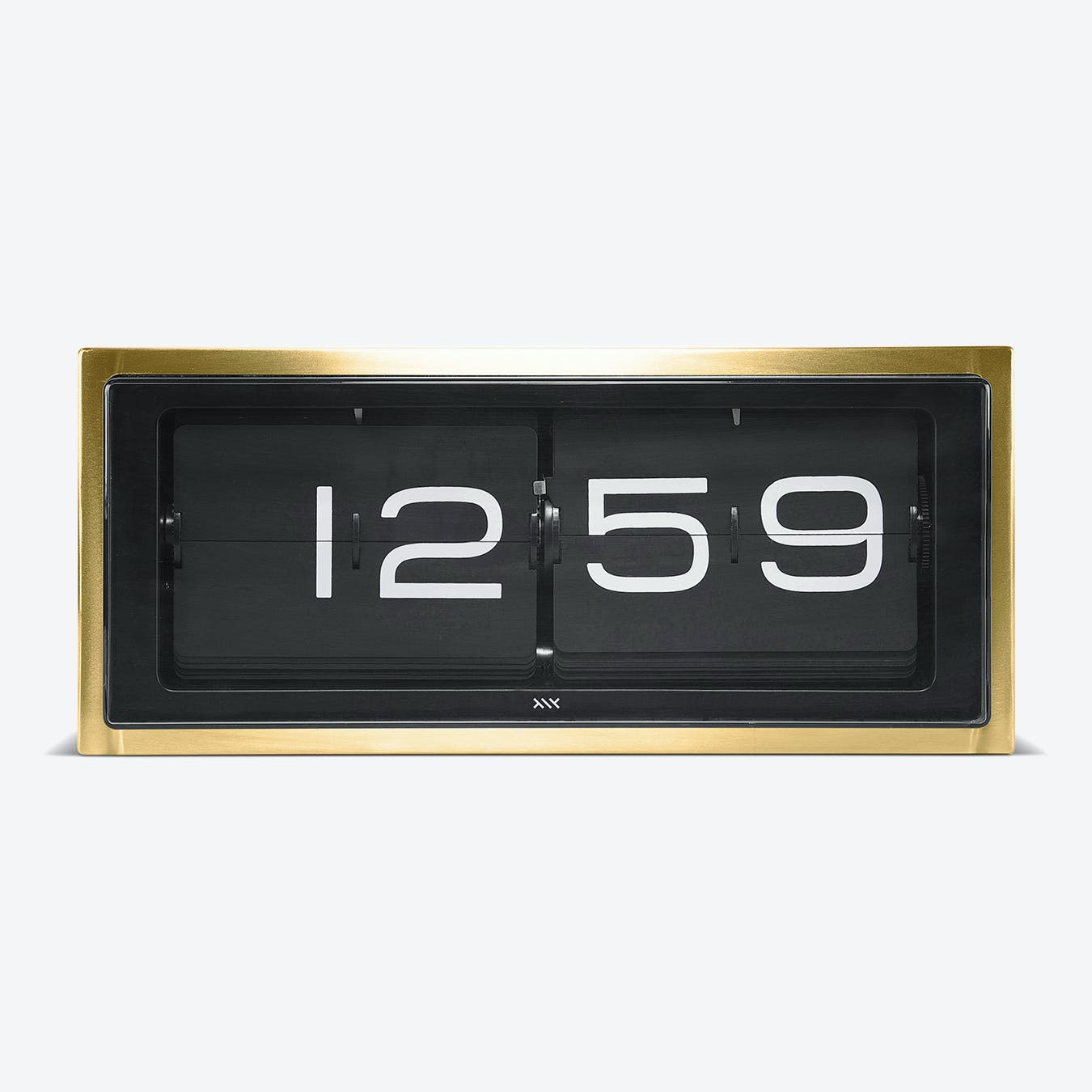 Brick Table Clock - Black